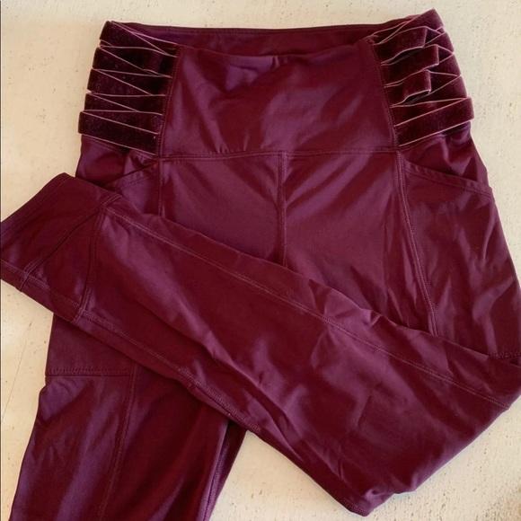 Free People Pants - Free People Maroon Leggings